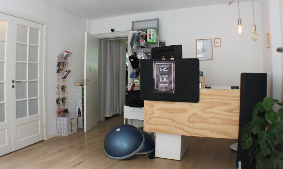 Reception fysioterapi klinik Rolfsvej Frederiksberg